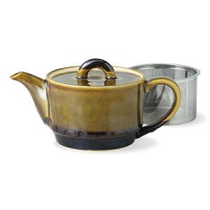 波佐見焼 クルミ SSポット 300ml SS茶こし付 スパーステンレス茶こし お茶 茶器 陶器 はさみ焼 ギフト 贈り物