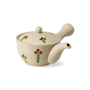 波佐見焼 釉小花 SS平急須 250ml スーパーステンレス網茶こし付き 茶器 お茶 茶こし付き はさみ焼