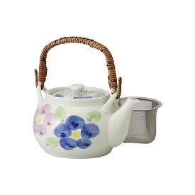《たっぷり1400ミりリットル》ステンレス網茶こし大きな土瓶型急須 二色廻り花 西海陶器株式会社 お茶 緑茶 おもてなし 法人 会社 事務所 オフィス 来客 接客 応接 茶器 有田焼 HASAMI おしゃれ