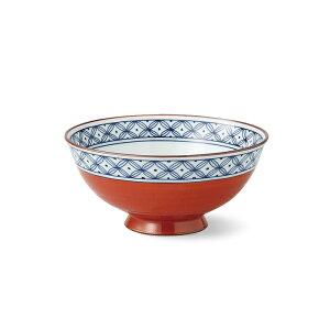 有田焼 内外地文絵 飯碗 中 赤 お茶碗 お茶漬け ご飯茶碗 おちゃわん ごはん 丈夫 楽天 通販 磁器 はさみ焼 HASAMI おしゃれ