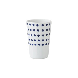 波佐見焼 豆しぼり 面取軽量フリーカップ コップ お茶 コーヒー ジュース 磁器 軽い 丈夫 インディゴジャパン はさみ焼 有田焼としても流通 HASAMI おしゃれ