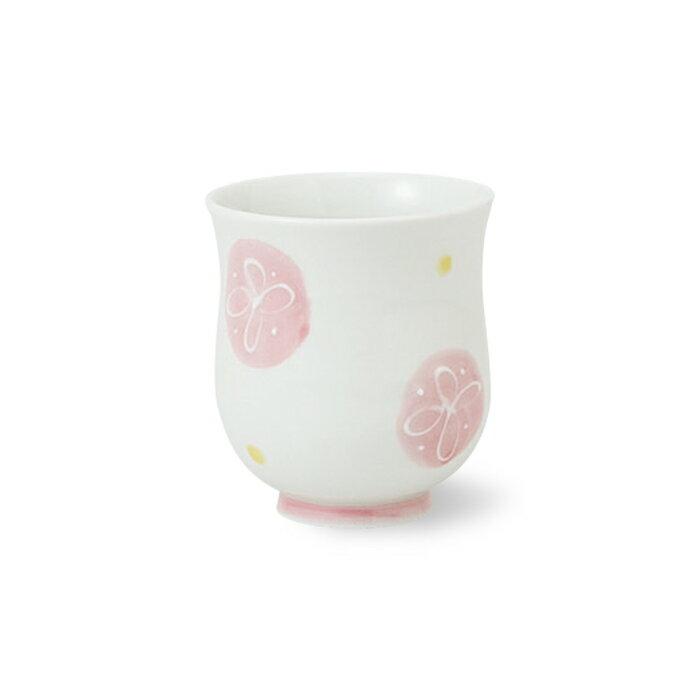 有田焼 一珍花水玉 湯呑 小 ピンク 花柄 水玉 ゆのみ 湯飲み お茶 茶器 通販 楽天 磁器 HASAMI おしゃれ