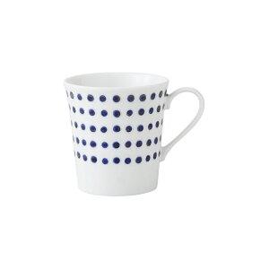美濃焼 豆しぼり 面取軽量 マグカップ ホット コップ お茶 コーヒー ジュース 磁器 軽い 丈夫 インディゴジャパン はさみ焼 有田焼としても流通 敬老の日 HASAMI おしゃれ