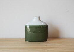 波佐見焼ファミリーベースfamilyvaseグリーンF緑花瓶フラワーベース一輪挿しインテリアはさみ焼陶器エッセンスギフト贈り物通販有田焼としても流通【essence】