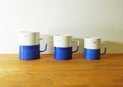 波佐見焼ディップマグカップFブルーコップコーヒーお茶はさみ焼磁器エッセンスギフト贈り物通販有田焼としても流通【essence】20P07Nov15