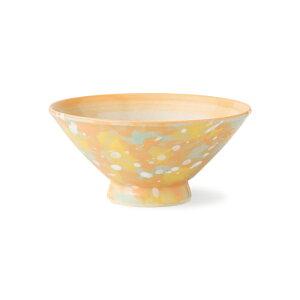 波佐見焼 H.Craft モネ 茶碗(橙) お茶碗 ご飯茶碗 飯碗 陶器 食器 はさみ焼 通販 楽天 手仕事 HASAMI おしゃれ