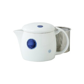 波佐見焼 スーパーステンレス 網茶こし付きポット 急須  丸紋 西海陶器・長持ち・茶葉・片付け・深蒸し・ハーブ・ 紅茶・洗いやすい・型崩れしない お茶 緑茶 HASAMI おしゃれ