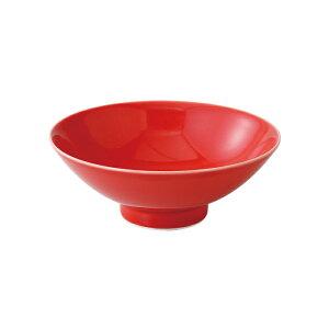 波佐見焼 平茶碗 夢色(紅)平碗ボウル《 はさみ焼》(有田焼としても流通)赤 レッド HASAMI おしゃれ
