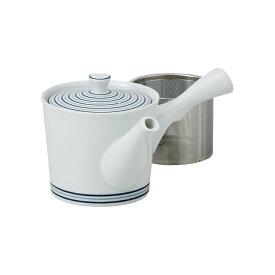 波佐見焼 スーパーステンレス網茶こし付き急須 白磁渦 西海陶器・長持ち・清潔・茶葉・片付け・深蒸し・ハーブ・紅茶・健康茶・洗いやすい・型崩れしない 緑茶 お茶 茶器 SS茶こし付き HASAMI おしゃれ
