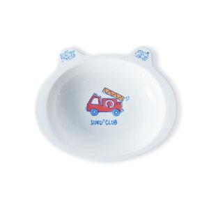 波佐見焼 消防車 カレー皿 15.5×19×高さ4cm kid's 磁器 お皿 和食器 はさみ焼 日本製 電子レンジ使用可 子供用食器 HASAMI おしゃれ