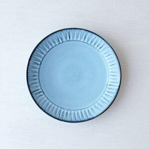 波佐見焼 φ24.5センチ盛り皿 蒼しのぎ 皿 盛り皿 陶器 はさみ焼 HASAMI おしゃれ