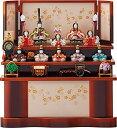 雛人形 収納飾り 木目込み コンパクト 一秀作 十人飾り ひな人形 お雛様 [K-7 十人飾 (大和雛15号・収納)] 十人飾り …