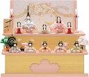 雛人形 一秀 ひな人形 木目込み 雛 木目込人形飾り コンパクト収納飾り 十五人飾り 木村一秀作 さくらさくら [C-110 …
