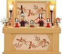 雛人形 一秀 ひな人形 雛 木目込人形飾り コンパクト収納飾り 段飾り 五人飾り 木村一秀作 安土雛 170号 収納 [I-25 …