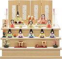 雛人形 一秀 ひな人形 雛 木目込人形飾り コンパクト段飾り 十人飾り 木村一秀作 大和雛 14号 [K-8 十人飾 (大和雛12…