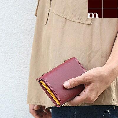 新色入荷!名入れ無料!当店限定色 エムピウ サイフ m+ 財布 MILLEFOGLIE2pig ミッレフォッリエ 130161 三つ折り財布 小さい財布 コンパクト財布 選べる19色 エムピウ ギフト