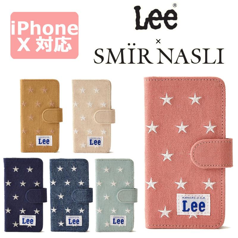 サミールナスリ iphoneケース Lee 送料無料 SMIRNASLI iPhoneX対応 手帳型 SMIR NASLI リー コラボレーション スター モバイルケース スマホケース Star Mobile Case 011200045 アイフォン10 カバー おしゃれ 可愛い カードケース ミラー iPhoneX iPhone10