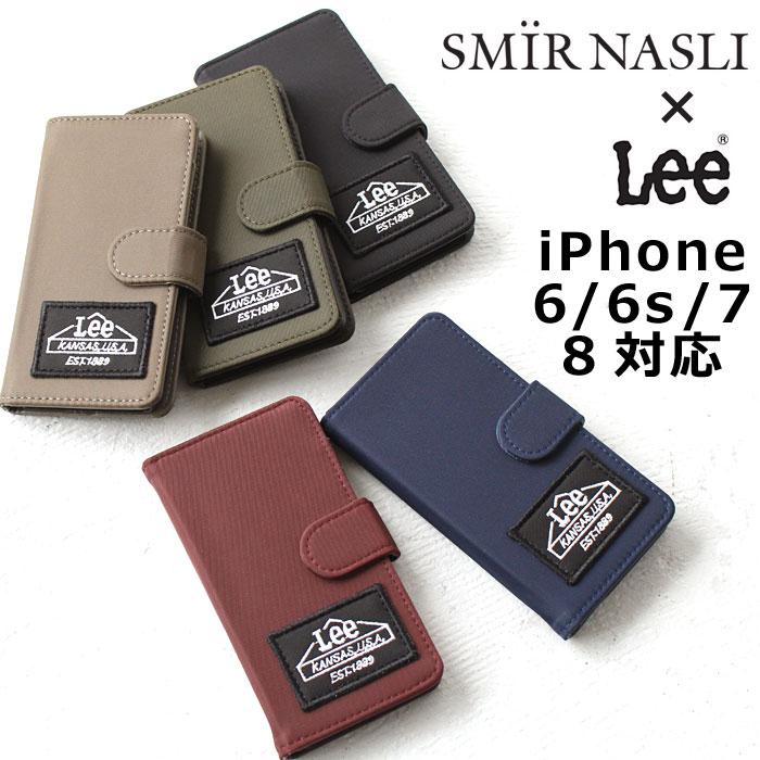 サミールナスリ iphoneケース Lee 送料無料 SMIRNASLI iPhone6 iPhone6s iPhone7 iPhone8 対応 手帳型 SMIR NASLI リー コラボ モバイルケース スマホケース Nylon Mobile 011300104 ブランド おしゃれ 可愛い カードケース ミラー アイフォン カバー