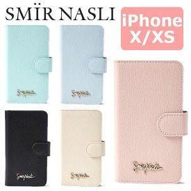 サミールナスリ iphoneケース SMIRNASLI iPhoneX iPhoneXS 対応 手帳型 SMIR NASLI モバイルケース スマホケース Simply Mobile Case 011431908 iPhone10 テン ブランド おしゃれ 可愛い カードケース ミラー アイフォン シンプル パステル