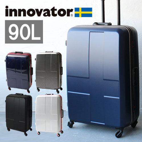 【正規品2年保証】innovator イノベーター スーツケース INV68 10泊〜 76cm 90L フレームタイプ カードキータイプ 2年保証 TSAロック トリオ 正規品