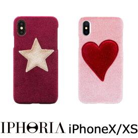アイフォリア IPHORIA iPhoneX iPhoneXS iphoneケース ベロア ベルベット アイホリア 可愛い iPhoneXケース iPhoneXSケース Velvet Case アイフォンケース おしゃれ ブランド かわいい ハート ピンク 星 スター モバイルケース スマホケース 正規販売店
