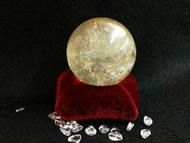 ゴールデンカルサイト 丸玉(台別) 58mm 天然石 パワーストーン 原石 1点物 誕生日プレゼント ギフト 送料無料