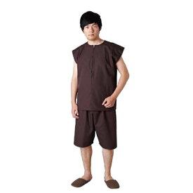 TW患者衣シリーズ 2WAY患者衣 ダークブラウン トワテック
