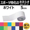 テーピング KINESYS カラーキネシオロジーテープ ホワイト  5cm×5m 1巻 トワテック
