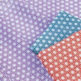 【日本製】日本柄 ガーゼ 手拭い(フェイスタオル) 麻の葉 【4枚まで、メール便OK】【花粉症対策】【ウイルス対策】【手作りマスク】