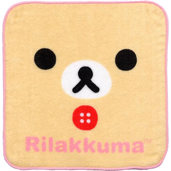 ★NEW★キャラクター リラックマ ミニタオルハンカチ 「KAOコリラックマ」【20枚までメール便OK!】【NEW】