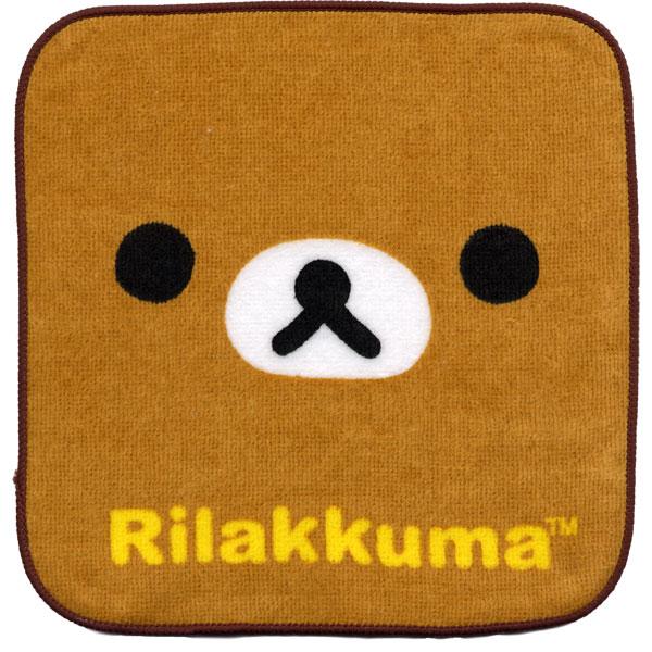 ★NEW★キャラクター リラックマ ミニタオルハンカチ 「KAOリラックマ」【20枚までメール便OK!】【NEW】