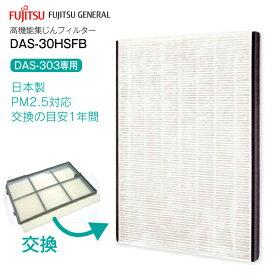 【送料無料】【日本製】PM2.5対応高機能集じんフィルター プラズマイオンUV加湿脱臭機(PLAZION)富士通ゼネラル DAS-303E・DAS-303D・DAS-303C・DAS-303B専用【RCP】 DAS-30HSFB