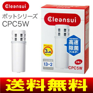 【送料無料】【CPC5W(NW)】三菱レイヨン 浄水器交換カートリッジ クリンスイ・cleansui【RCP】1箱2本入 CPC5W-NW