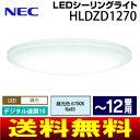 【送料無料】(HLDZD1270)NEC LEDシーリングライト 8畳〜12畳用(日本製) 昼光色 住宅照明器具(LED照明・調光10段階デ…