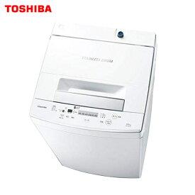 【送料無料】洗濯機 東芝 洗濯容量4.5kg パワフル洗浄 ステンレス槽 一人暮らし 小家族に【RCP】TOSHIBA 全自動洗濯機 AW-45M7(W)
