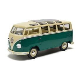 フォルクスワーゲン 1962 ワーゲンバス 1/24 グリーン Kinsmart キンスマート プルバックカー ミニカー