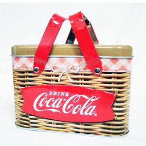コカコーラTINバスケット かわいい ランチボックス ブリキ缶 運動会 ピクニック お弁当箱 ランチケース 収納箱 収納ケ−ス