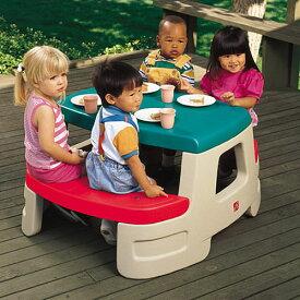 [次回入荷7月中旬][メーカー直送品] ちびっこピクニックテーブル [代引き不可 同梱不可 包装不可] | ままごと 大型遊具 ベンチ