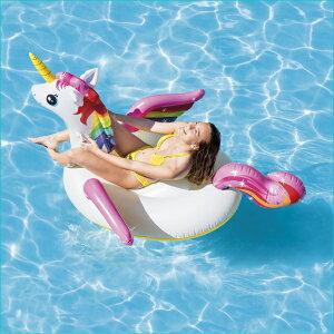 INTEX(インテックス) 浮き輪 フロート マット ユニコーンライドオン 201×140×97cm 57561 [日本正規品] | インスタ 浮き輪 フロート 子供 大人 おもしろ 浮き 具