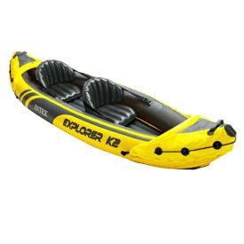 INTEX(インテックス) カヤック エクスプローラー K2 ボート 312×91×51cm [68307] [日本正規品] | パドル 二人乗り