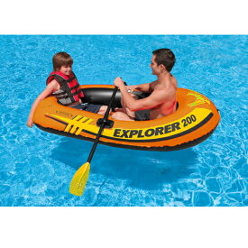 INTEX ボート エクスプローラー200セット 185×94×41cm 58331   ビニール BOAT 2人乗り オール