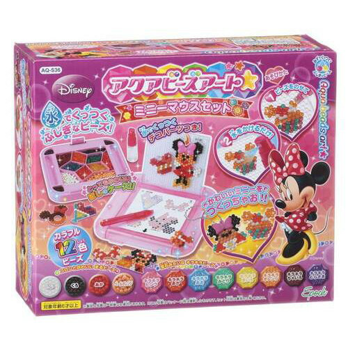 アクアビーズアート ミニーマウスセット AQ-S36   誕生日プレゼント ギフト おもちゃ