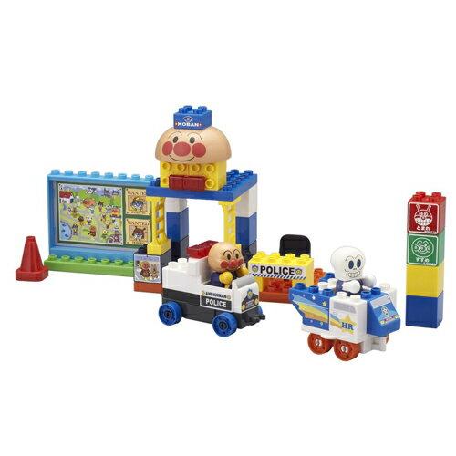 アンパンマン ブロックラボ アンパンマンとパトカーブロックセット   おすすめ 誕生日プレゼント ギフト おもちゃ   入学 入園 卒業 卒園 お祝い