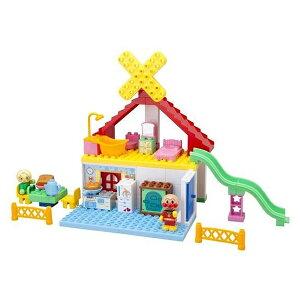アンパンマン ブロックラボ パン工場とすべり台のおうちブロックバケツ | おすすめ 誕生日プレゼント ギフト おもちゃ