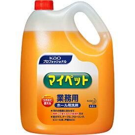 【送料無料】花王 マイペット 業務用サイズ 4.5Lボトル×4本 [拭き掃除洗剤]
