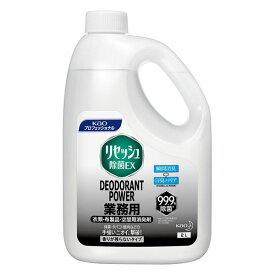 【送料無料】リセッシュ除菌EX デオドラントパワー香り残らないタイプ 業務用2L×6本 & 専用容器×3本 【消臭剤】
