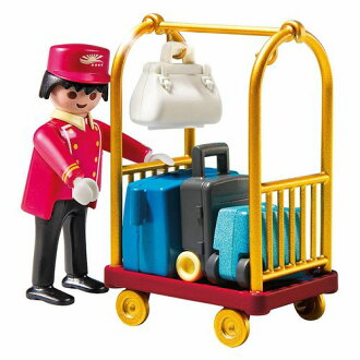 Playmobil Porter with Baggage Cart(比賽美孚)/服務生