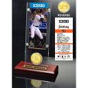 【まもなく再入荷 1709】2015年 MLB イチロー Ticket & Minted Coin Acrylic Desk Top/マイアミ・マーリンズ