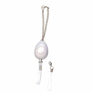 小型防犯ブザー ミュウ 男の子/女の子 小学生/子供 ボタン電池付 パールホワイト