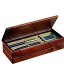 万年筆ケース sc35 万年筆などの筆記具整頓,2段重ね,木の風合い,起毛状の布貼り,贈り物にも【豊岡クラフト】木製品を…